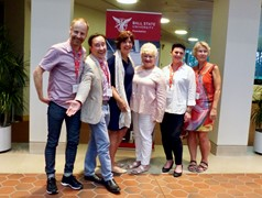 From left: Kristofer Sidenvall, Dalarna University; David Vargas, Masaryk University, Czech Republic; Astrid de Keizer, Leiden University of Applied Sciences, Netherlands; Marilyn Tolbert, Texas, Christian University, USA; Maria Svensson, Gothenburg University; Susanne Corrigox, Dalarna University.