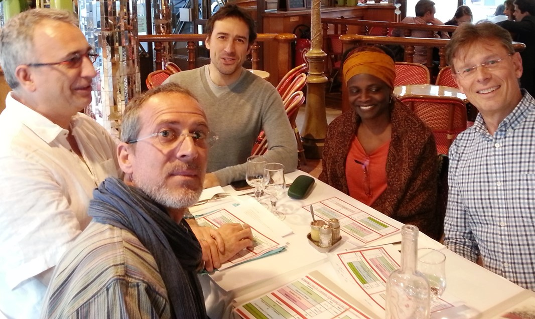 Faculty Jean-Luc Martineau (Yoruba modern history), Jean-Charles Hilaire (Hausa language), Nicolas Aubery (Yoruba language), Nazal Hadiza (Hausa language) with Lars Berge, DUCAS, planning for joint courses between the two institutions.