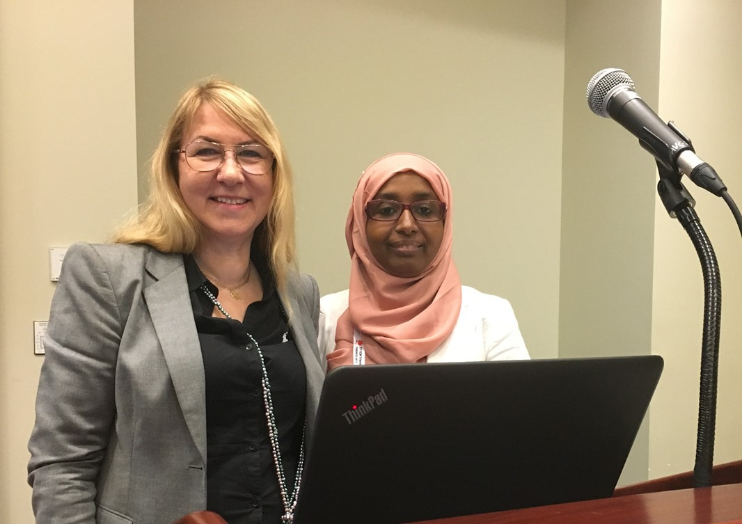 Kerstin Erlandsson and Fatumo Osman at the Toronto Congress.