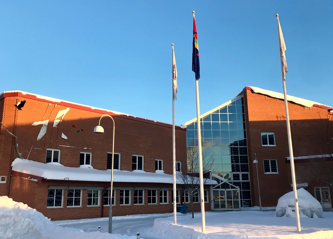 The Sami Flag at Campus Falun