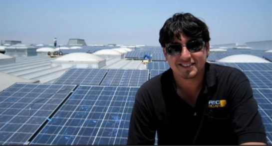 European Solar Energy School graduate at worksite