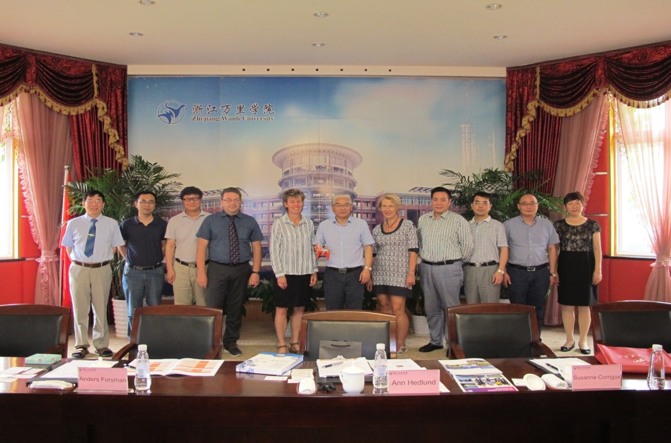 Representatives from Dalarna University in China